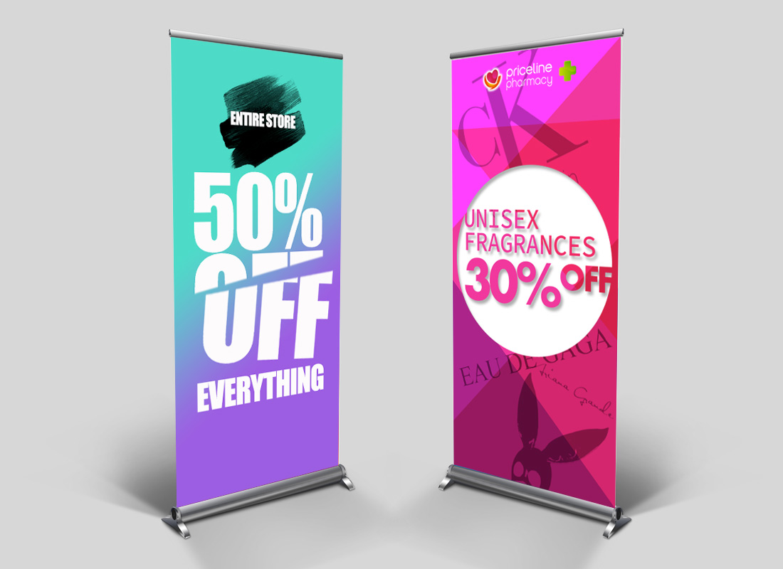 POS pull-up banner design